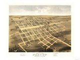 Paxton, Illinois - Panoramic Map Posters