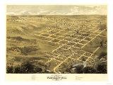 Pleasant Hill, Missouri - Panoramic Map Posters