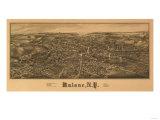 Malone, New York - Panoramic Map Posters by  Lantern Press