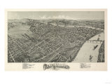 Parkersburg, West Virginia - Panoramic Map Posters