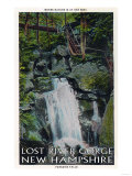White Mountains, NH - Lost River, View of Paradise Falls Poster