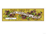 Aux Violettes De Nice Soap Label - Paris, France Poster by  Lantern Press