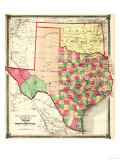 Texas and Indian Territory - Panoramic Map Posters by  Lantern Press