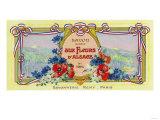 Auz Fleurs D' Alsace Soap Label - Paris, France Posters by  Lantern Press