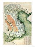 Vietnam - Panoramic Map Print by  Lantern Press