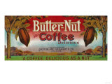 Butter Nut Coffee Label - Omaha, NE Print