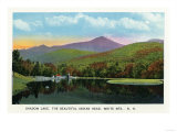 White Mountains, New Hampshire - Indian Head and Shadow Lake View Posters