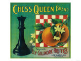 Chess Queen Orange Label - Los Angeles, CA Posters