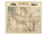 Wyoming - Panoramic Map Posters