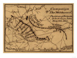 Battle of the Wilderness - Civil War Panoramic Map Posters by  Lantern Press