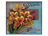 Canna Orange Label - Highland, CA Posters