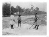 Black Children Playing Golf Photograph Posters par  Lantern Press