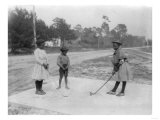 Black Children Playing Golf Photograph Posters