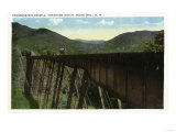 White Mountains, New Hampshire - Crawford Notch View of Frankenstein Trestle Print by  Lantern Press