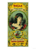 Belle of Virginia Tobacco Label - Petersburg, VA Print by  Lantern Press
