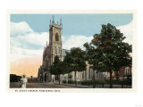 Worcester, Massachusetts - Exterior View of St. Paul's Church Posters