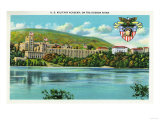 West Point, New York - Hudson River View of US Military Academy Posters by  Lantern Press