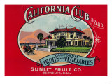 California Club Can Label - Berkley, CA Posters