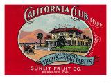California Club Can Label - Berkley, CA Posters by  Lantern Press