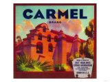 Carmel Orange Label - East Highlands, CA Posters by  Lantern Press