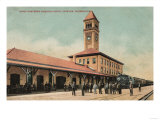 Spokane, Washington - Great Northern Railroad Depot Print
