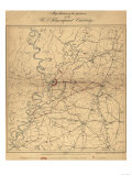 Siege of Vicksburg - Civil War Panoramic Map Posters by  Lantern Press