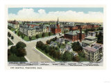 Worcester, Massachusetts - Aerial View of City Hospital Poster