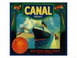 Canal Orange Label - Rialto, CA Posters