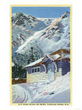 Tuckerman Ravine, NH - View of a US Forest Service Ski Shelter Poster von  Lantern Press