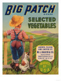 Big Patch Vegetable Label - Watsonville, CA Poster by  Lantern Press