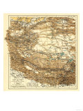 Tibet - Panoramic Map Poster