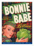 Bonnie Babe Lettuce Label - Salinas, CA Prints by  Lantern Press