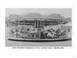 Seaside, Oregon - Merry-Go-Round View at Gayway Park Posters