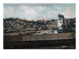 Roslyn, Washington - Aerial View of Mining Shaft & Town Posters by  Lantern Press