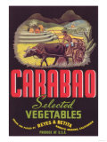 Carabao Vegetable Label - Arroyo Grande, CA Posters
