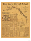Salmon Canneries of the Pacific Northwest - Panoramic Map Posters