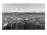 Bellingham, WA Town View from Sehome Hill Photograph No.1 - Bellingham, WA Print by  Lantern Press
