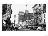 Spokane, Washington - View of Wall Street Corner Print
