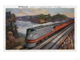 The Dells, Wisconsin - The Hiawatha Streamline Train Print by  Lantern Press