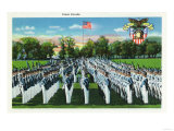 West Point, New York - Military Academy Dress Parade Poster by  Lantern Press