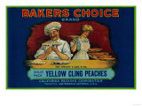 Bakers Choice Peach Label - San Francisco, CA Posters by  Lantern Press