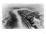 Seaside, Oregon - Aerial View of the City and Beach No. 2 Posters