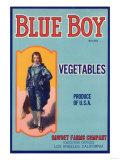 Blue Boy Vegetable Label - Los Angeles, CA Posters