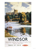 Windsor, England - British Railways Windsor Castle Thames Poster Posters