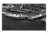 Seattle, Washington - Aerial View of the City Port Poster by  Lantern Press