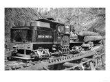 Benson Timber Company Train Hauling Logs - Clatskanie, OR Poster by  Lantern Press