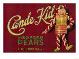 Cande Kid Pear Crate Label - Medford, OR Poster by  Lantern Press
