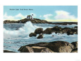 York, Maine - View of the Nubble Lighthouse Print by  Lantern Press