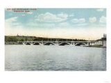 Worcester, Massachusetts - View of New Lake Quinsigamond Bridge Print