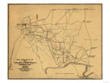 Battle of Shiloh - Civil War Panoramic Map Print by  Lantern Press